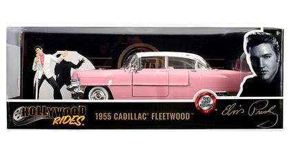 Cadillac Fleetwood 1955 Pink Cadillac with Elvis Figure