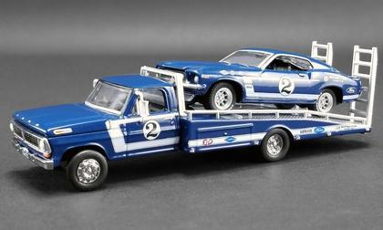 Ford F-350 Ramp Truck and #2 1969 Trans Am Mustang