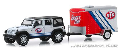 Jeep Wrangler Unlimited 2015 with STP Small Cargo Trailer Hitch and Tow Series 18 (October)