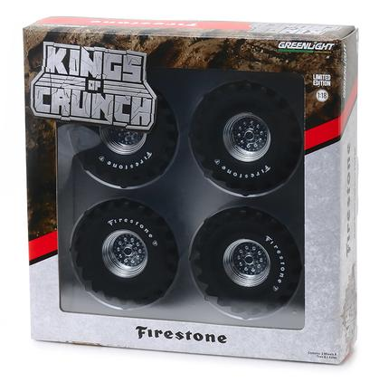 Firestone - 48-Inch Monster Truck Wheel and Tire Set