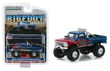 BIGFOOT #1 1974 FORD F-250 BLUE MONSTER TRUCK WITH FLAMES