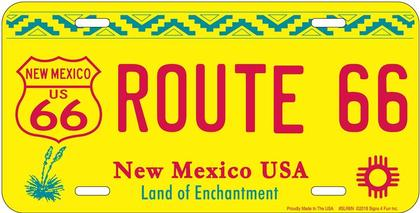 NEW MEXICO CAR PLATE ROUTE 66