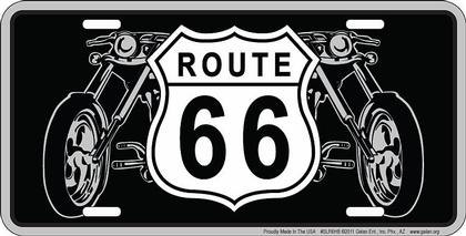 Route 66 - Shield Bikes License Plate
