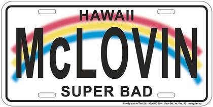 McLovin Hawaii License Plate