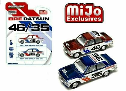 Datsun 510 1971 BRE #46 & #35 Chrome