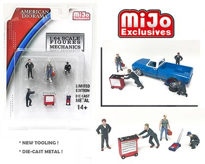 1:64 Die-Cast Figures - Mechanics Set of 6