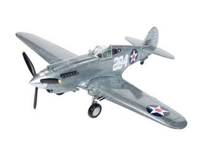 1941 Curtiss P-40B Tomahawk Texaco Brushed Metal Fighter