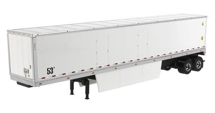 53' Dry Van Trailer in White