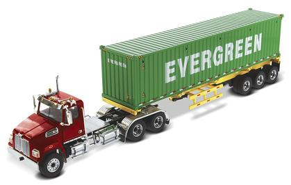 Western Star 4700 with Skeletal Trailer and 40' EverGreen Shipping Container