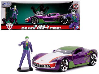 Chevrolet Corvette Stingray with Joker Figure DC Comics Bombshells