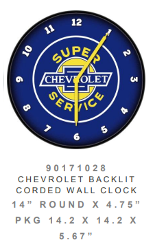 Chevrolet backlit Clock