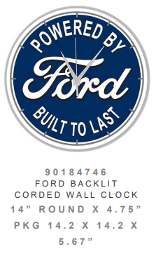 Ford backlit Clock