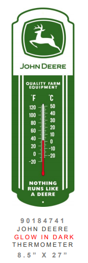 John Deere Thermometer (Glow in the Dark)