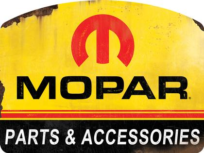 MOPAR ACCESSORIES EMBOSSED TIN SIGN