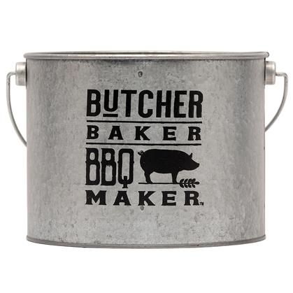 BUTCHER BAKER BBQ MAKER GALVANIZED CONTAINER