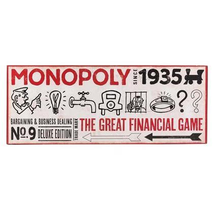 MONOPOLY 1935 WOOD WALL ART