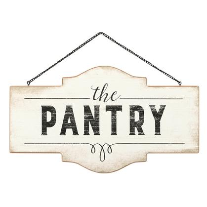 THE PANTRY HANGING WOOD SIGN