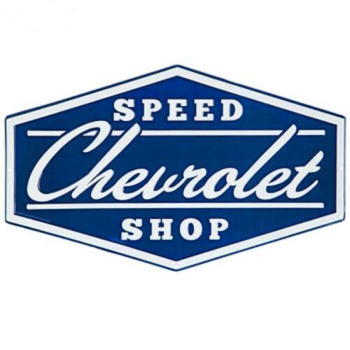 CHEVROLET SPEED SHOP EMBOSSED METAL SIGN