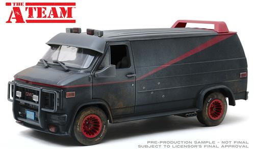 GMC Vandura 1983 The A-Team (Weathered Version with Bullet Holes)