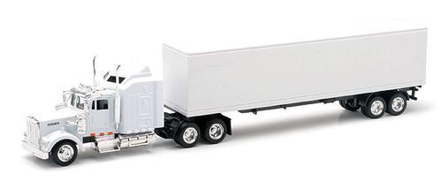 Kenworth W900 Tractor with Dry Van Trailer
