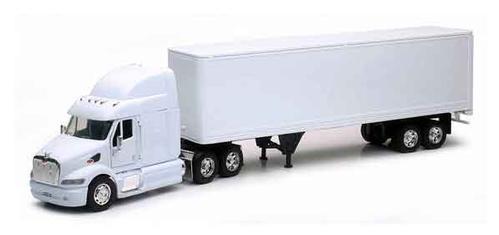 Peterbilt 387 Long Hauler With Dry Van Trailer