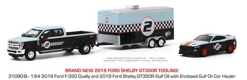 2019 Ford F-350 Dually and 2019 Ford Shelby GT350R with Enclosed Car Hauler