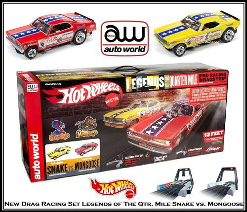 Hot Wheels Snake vs Mongoose Slot Car Drag Set