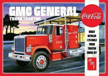 1976 GMC General Semi Tractor Coca-Cola plastic model kit 1/25