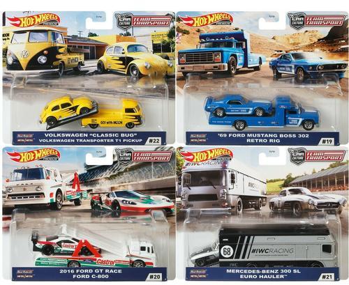 2020 Hot Wheels Car Culture 1/64 Prem Team Transport Set