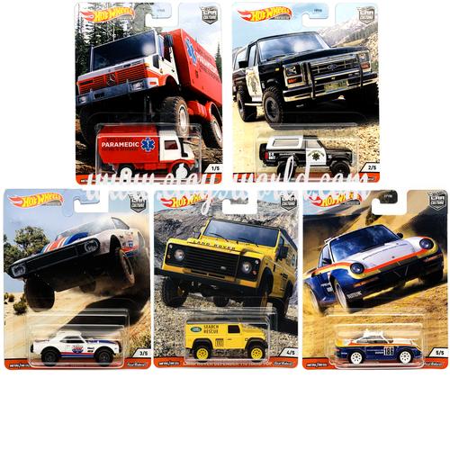 CAR CULTURE ALL TERRAIN SET OF 5 REAL RIDERS 1/64 SET