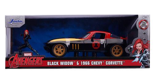 Chevrolet Corvette 1963 with Black Widow Figure
