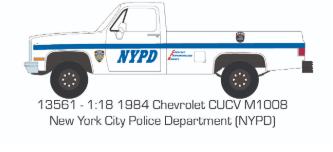 Chevrolet CUCV M1008 1984 NYPD Police (Summer 2020)
