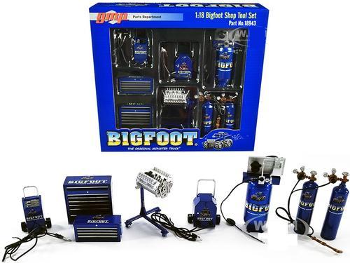 GMP Shop Tool Set #1 Big Foot #1 The Original Monster truck 1/18