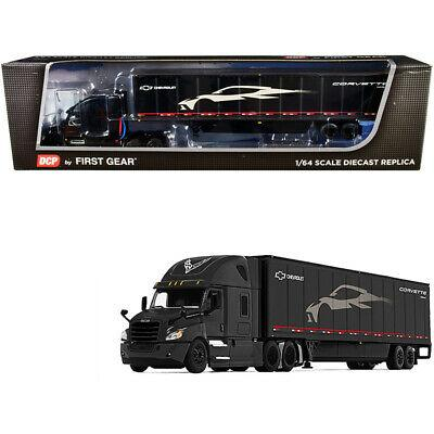 2018 Freightliner Cascadia High-Roof Sleeper Cab with 52' Wabash DuraPlate Trailer with Skirts C8 Corvette