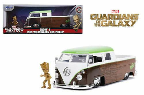 MARVEL GUARDIANS OF THE GALAZY GROOT & 1963 VW BUS PICKUP