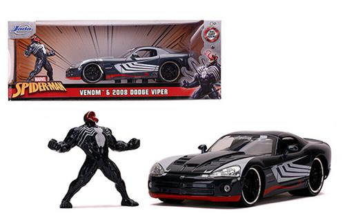 Dodge Viper 2008 Spider-Man with Venom Figure