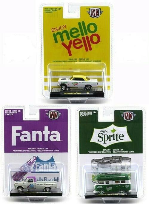 Coca-Cola 1/64 Fanta - Sprite - Mello Yello Set 1/64