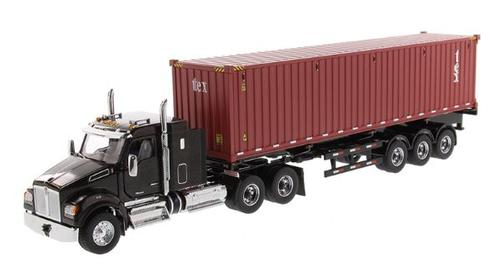 Kenworth T880 SFFA 40 Sleeper Tandem Tractor with 40' Dry Goods Sea Container