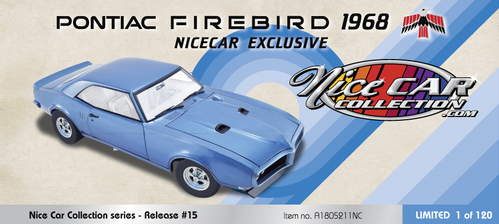 Pontiac Firebird 1968 Nice Car Collection Series #15 (Winter 2021) SOLDOUT