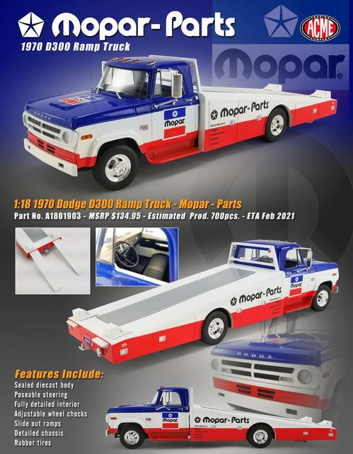Dodge D300 1970 Mopar Ramp Truck (February)