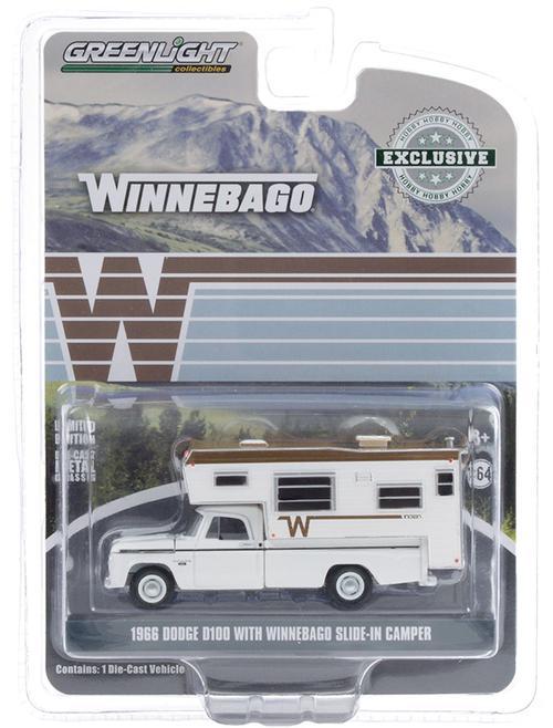 1966 Dodge D-100 Pickup with Winnebago Slide-In Camper