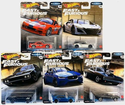 2020 Hot Wheels Fast & Furious Premium Full Force Set of 5 1/64 (Oct 26)