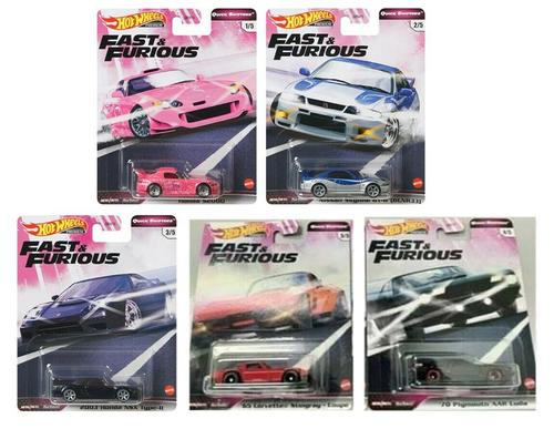 2020 Hot Wheels Fast & Furious Quick Shifters Set of 5 Cars 1/64 (Oct 26)