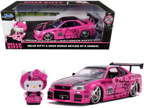 NISSAN SKYLINE GT-R BNR34 2002 & HELLO KITTY Figure (Oct 26)