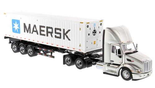 Peterbilt 579 Day Cab Tractor with Maersk 40' Refrigerated Sea Container