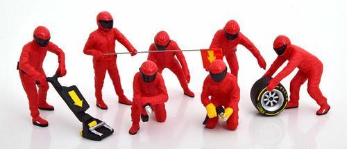 1:18 American Diorama Ferrari Pit Crew set