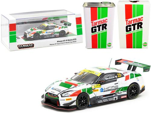 NISSAN GT-R NISMO GT3 #23 & METAL OIL CAN 1/64 CAR TARMAC WORKS