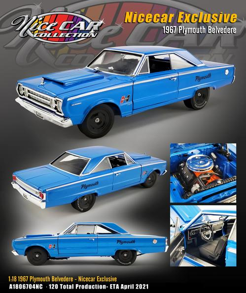 Plymouth Belvedere 1967 Nice Car Collection - Release #16