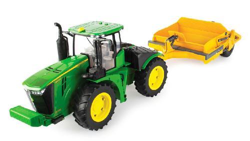 John Deere 9570R Tractor with Scraper