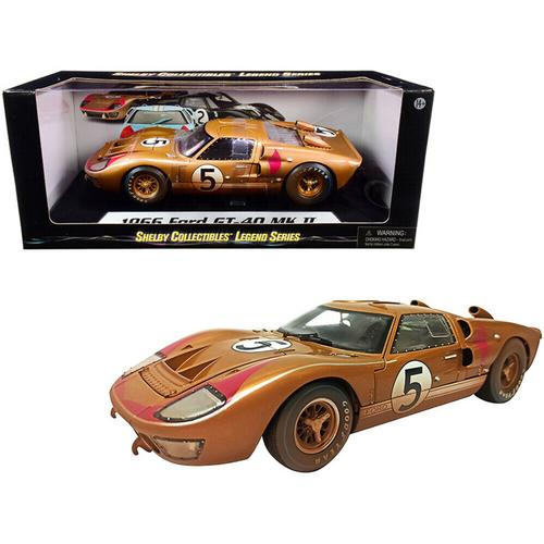 Ford GT-40 MKII 1966 #5 Gold After Race (Dirty Version)